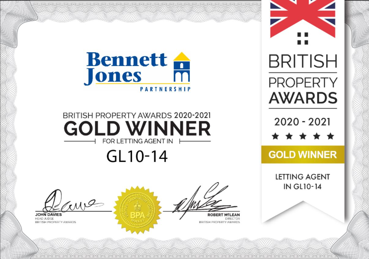 Bennett Jones wins Letting Award for GL10-14 Postcode Area